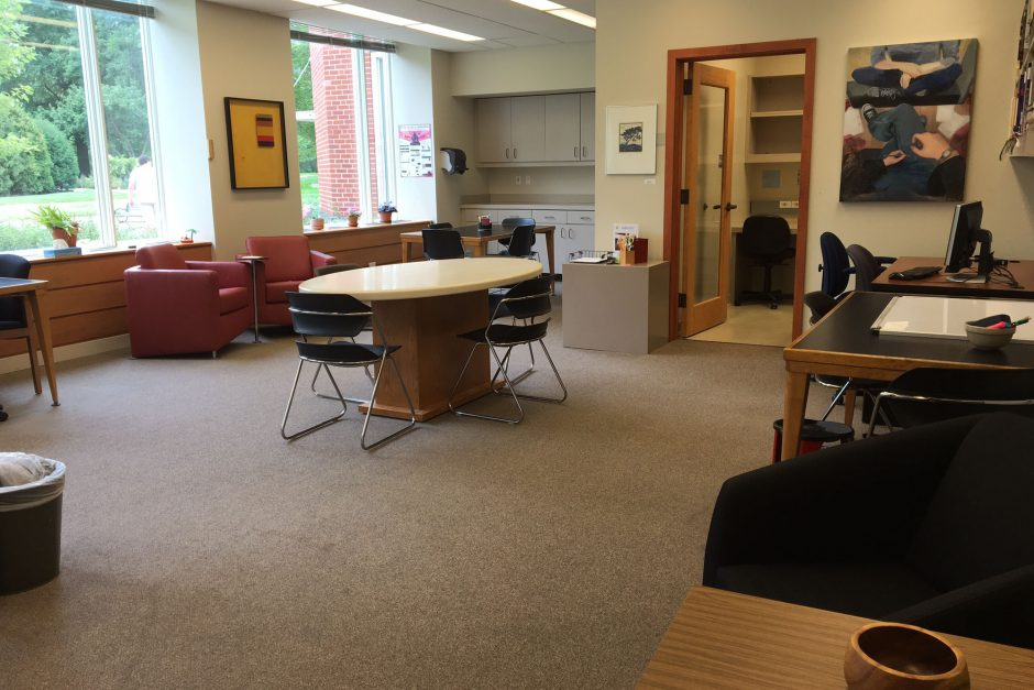 This is the new writing center located on the third floor of the library.