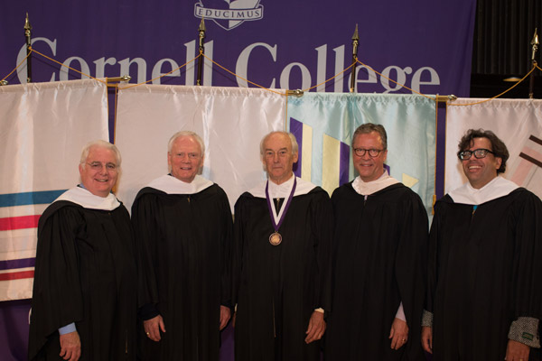 From left: Haley, Sunderlage, Martin, Ruter, Miller. (Photo by Robyn Schwab Aaron '07)
