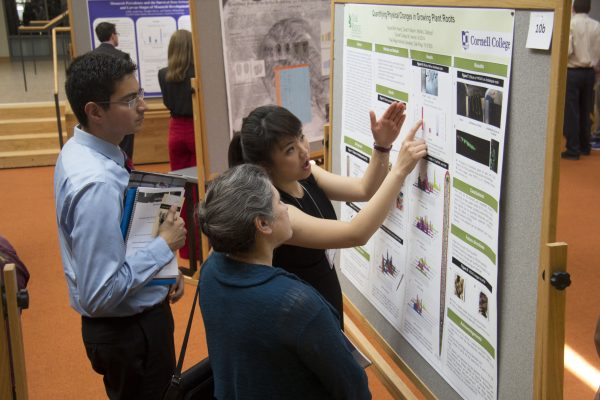 Students present their work to their faculty, fellow students, and the community.