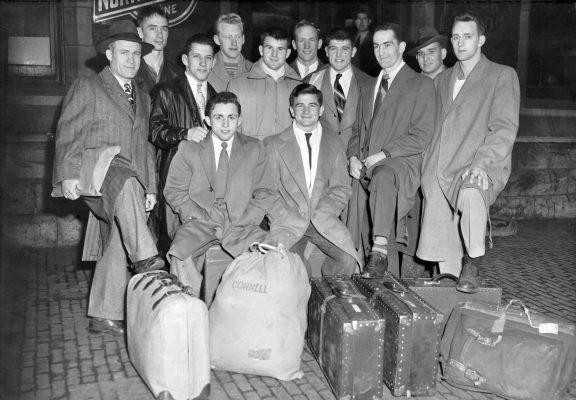 '47 Cornell wrestlers