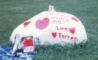 Darren J. Rausch '99 proposed to Heather Gordon '98 in 1998 using The Rock. She said yes.