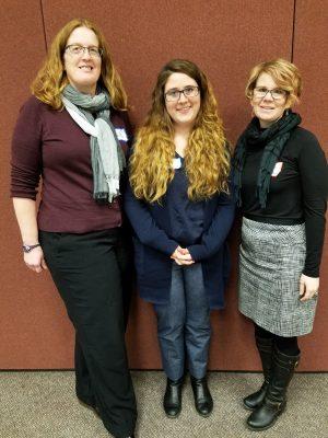 Professor of Sociology Erin Davis, Alex DeSena '17, ssociate Professor of Sociology Tori Barnes-Brus (right to left)