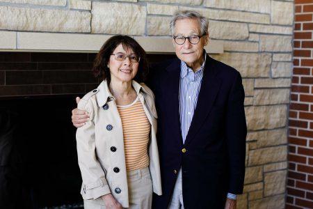Richard Williams '63 and honorary alumna Marlene Williams