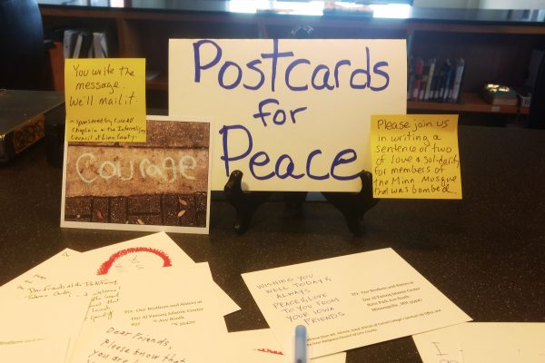 Cornell College's Office of Chaplain & Spiritual Life is working to spread a message of peace following a bombing in Minnesota.