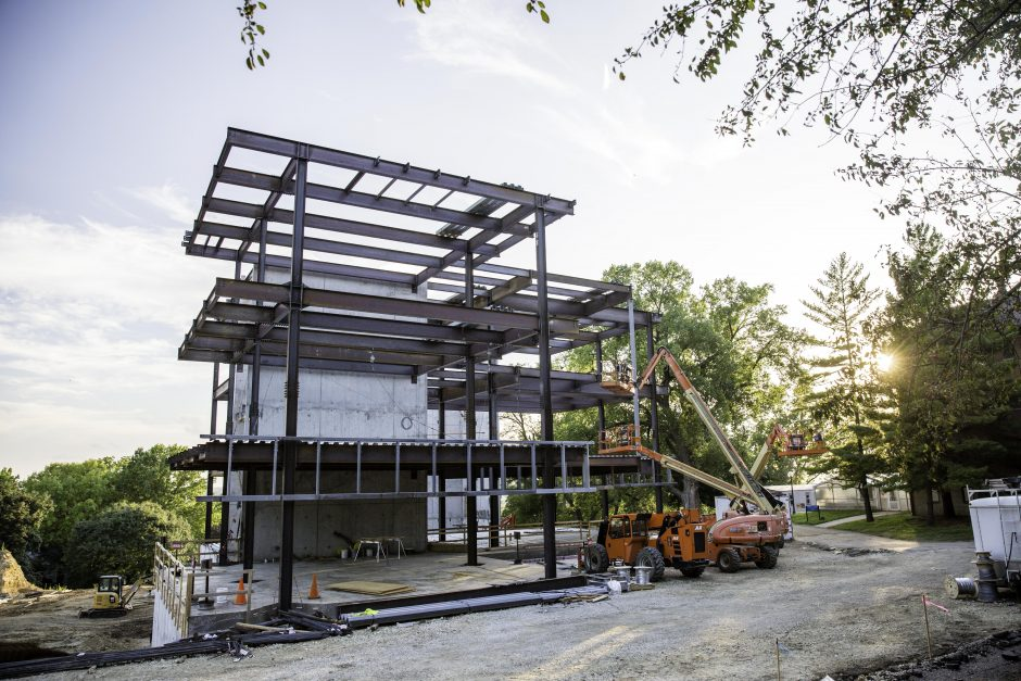 Russell Science Center construction 3
