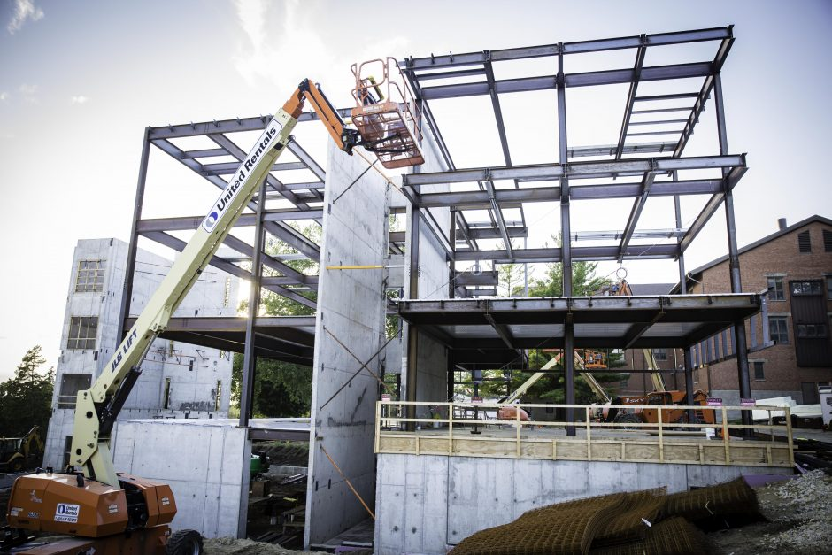 Russell Science Center construction 1