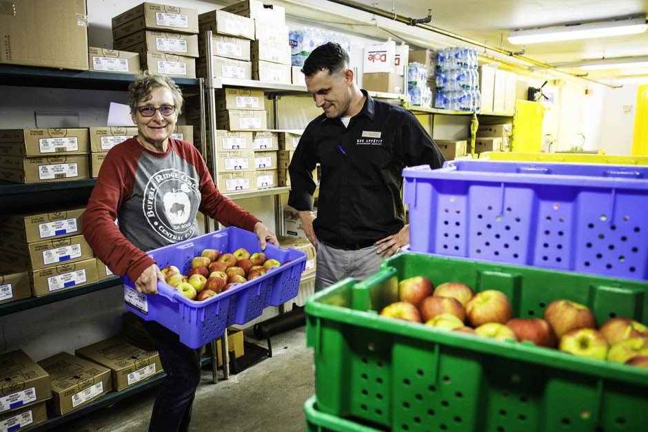 Local farmer delivers apples