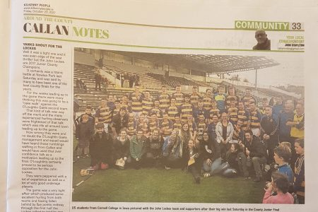 Cornell students in Kilkenny paper 2