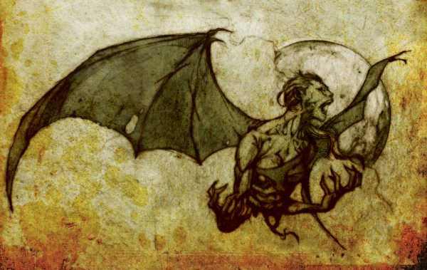 Picture of a creature known as Manananggal. This aswang (Filipino for vampire-like creatures) is a woman by day, but at night her torso detaches in the middle.
