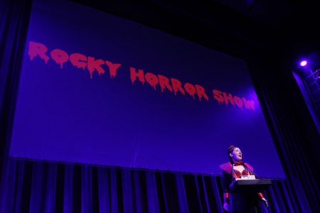 "Actress sings on stage for ""The Rocky Horror Show"""