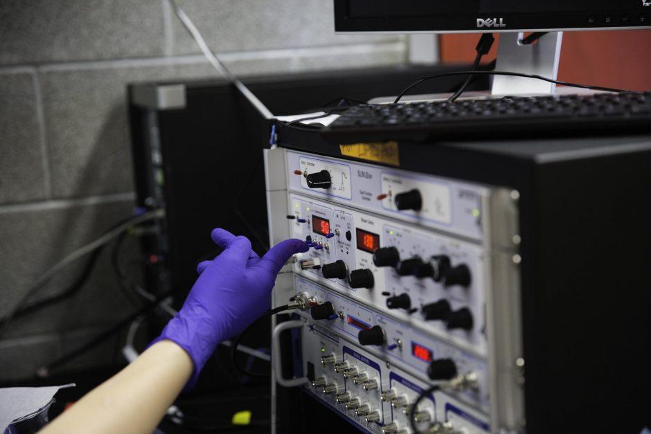 Students research in Professor Jai Shanata's lab 12