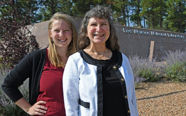Joyce Guzik '82 (right) with her postdoctoral fellow, Suzannah Wood '13.