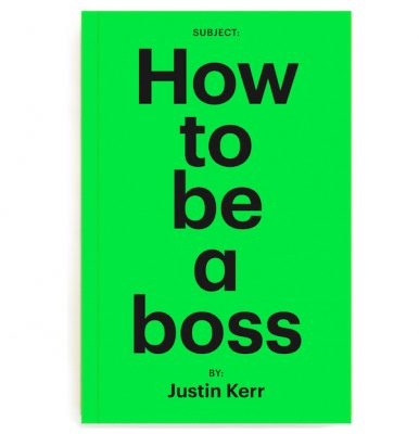 Book cover of Justin Kerr's new book