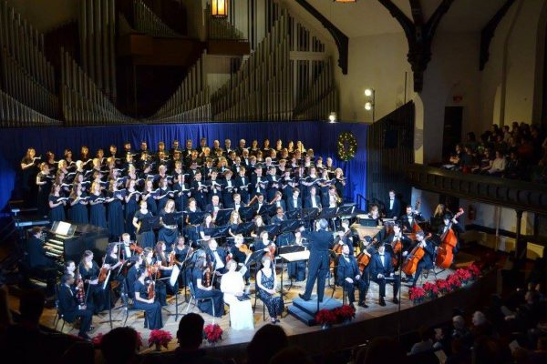 "The Cornell College Department of Music will present ""Make a Joyful Noise,"" a holiday concert featuring the orchestra, choirs, and organ, at 7:30 p.m. on Saturday, Dec. 2, in King Chapel. Admission is free and the concert is open to the public. College organist Mark Baumann will play a 20-minute prelude prior to the start […]"
