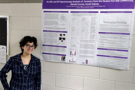 Samantha Nadel with research poster