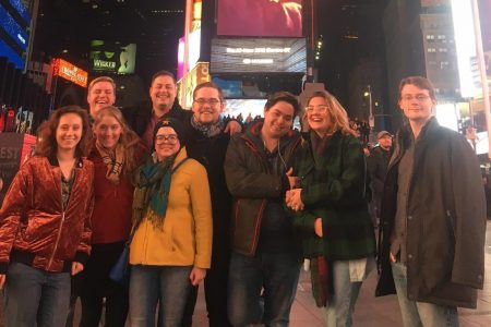 Students enjoy their theatre class in NYC