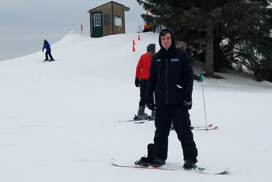 Students experience a ski trip