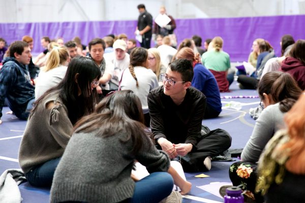 Students take on refugee role in simulation