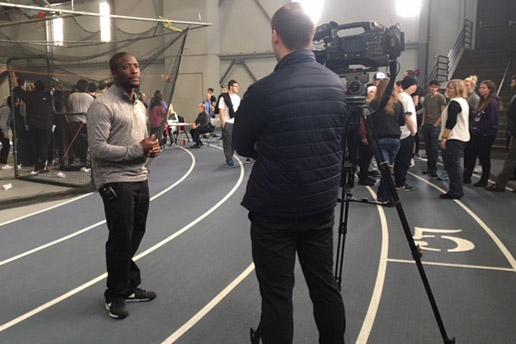 Hemie Collier gets interviewed by CBS2