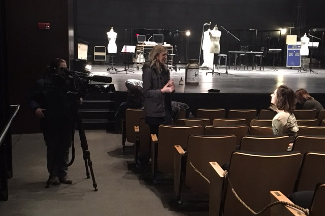 KCRG reporter interviews students about their production of Cornell-o-drama.