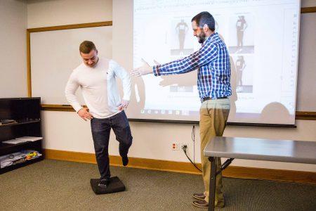 Professor Neese works with Lucas Casten