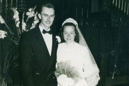 Al Boysen '49 and Betty Cain Boysen '50 wedding