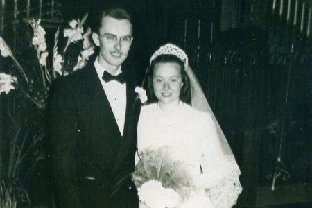 Al Boysen '49 and Betty Cain Boysen '50 wedding