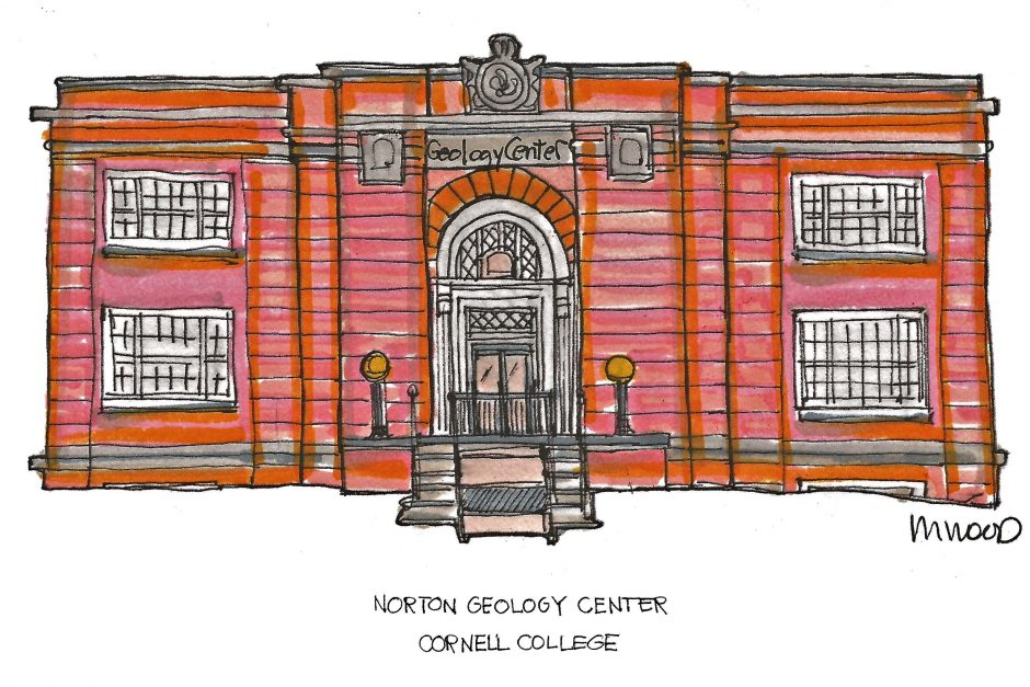 Norton Geology Center drawing by Melissa Wood '82