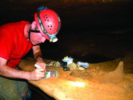 Rhawn Denniston working in an Australian cave.