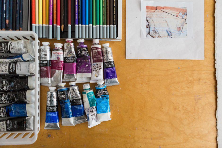 Vivian Heywood paints