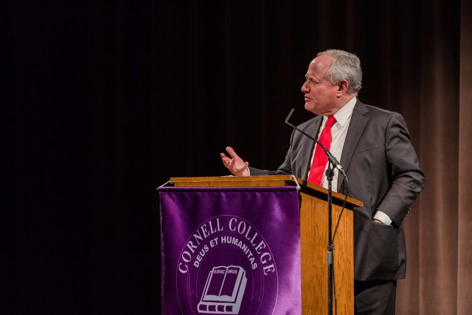William Kristol at Cornell College