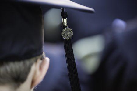 Photo of tassel on cap for graduation