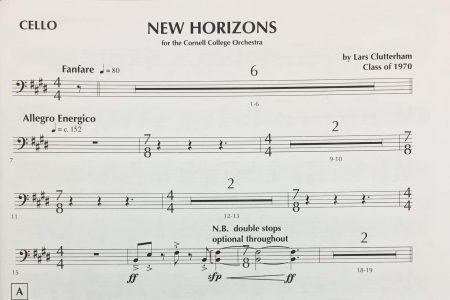 New Horizons sheet music