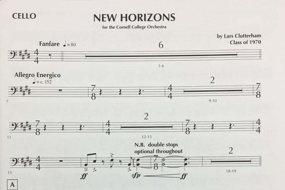 New Horizons sheet music
