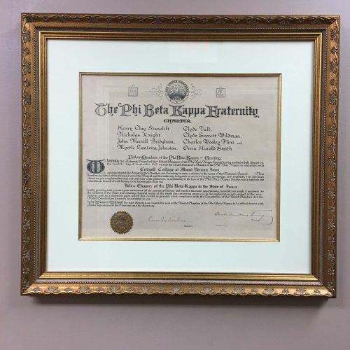 Phi Beta Kappa charter