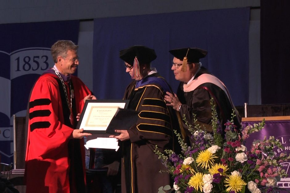 Professor Christina Penn-Goetsch receives the Exemplary Teacher Award