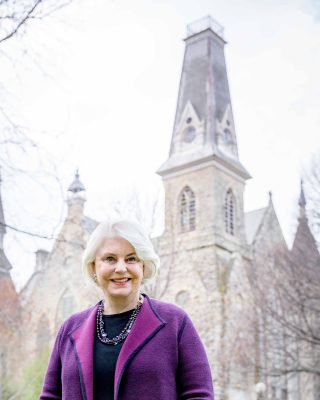 Linda Webb Koehn '66 at King Chapel