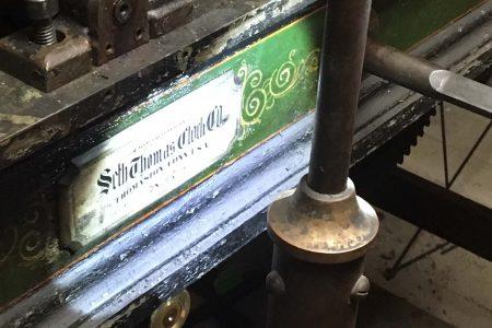 Seth Thomas clock nameplate