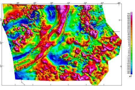 Iowa magnetic map