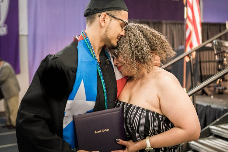 Randy Santiago '18 and his mother