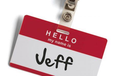 Jeff nametag