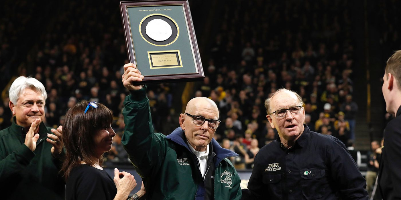 In tribute to Cornell Wrestling Head Coach, Mike Duroe
