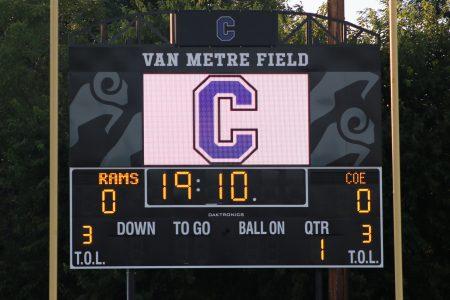 Picture of Cornell's new video scoreboard