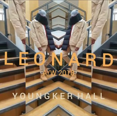 poster advertising fashion show called Leonard