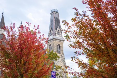Photo of King Chapel in the fall