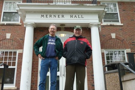 Preston Sitterly '69 and Steve LaFollette '69 at Merner Hall