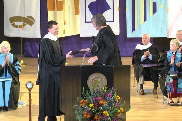 Cornell College presented Eric Sudol '03 with the 2018 Young Alumni Achievement Award during Homecoming Weekend.
