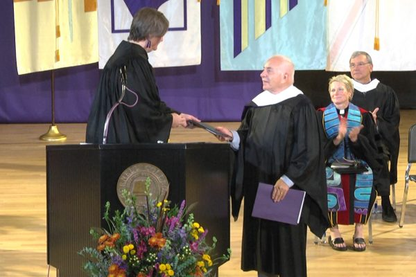 Cornell College presented Flora Shriver Bowers '63 with the 2018 Leadership and Service Award during Homecoming Weekend.
