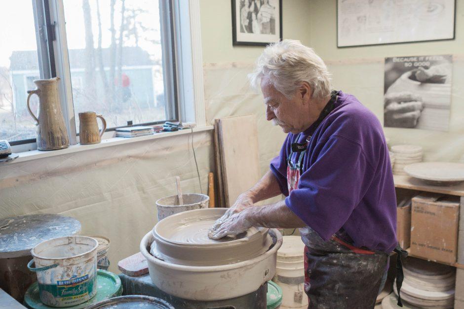 Doug Hanson in the studio