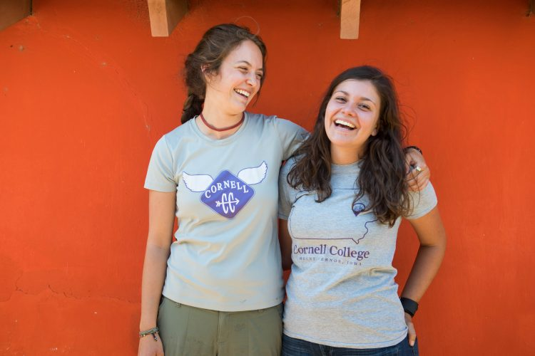 Carly Pierson '17 (left) Maria Goodfellow '16 serve as Peace Corps volunteers in Paraguay.